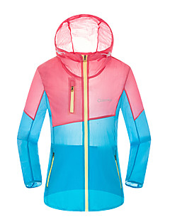 Women's Casual Sports Indoor Outdoor clothing Leisure Sports Sport Summer Trench Coat,Mixed Color Hooded Long Sleeve Regular Polyester