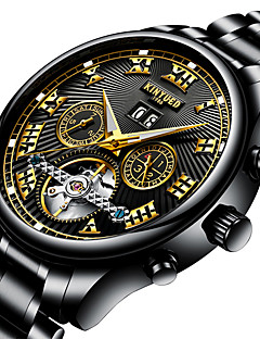 Heren TienerSporthorloge Militair horloge Dress horloge Skeleton horloge Modieus horloge Vrijetijdshorloge Polshorloge mechanische