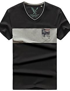 남성용 하이킹 T-셔츠 통기성 티셔츠 탑스 용 캠핑 & 하이킹 여름 M L XL XXL XXXL