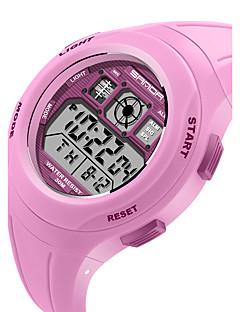 billige Børneure-SANDA Digital Armbåndsur Smartur Militærur Sportsur Japansk Kalender LED Selvlysende i mørke Stopur Træningsmålere Silikone Bånd Slik Mode