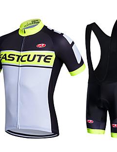 fastcute Sykkeljersey med bib-shorts SykkelSykkelshorts Med Seler Jakke Shorts Skjorte Genser Jersey Sykkeltrøye + shorts Sykkeltrøye +