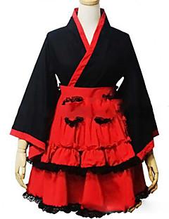 和ロリータ プリンセス 女性用 女の子 着物 コスプレ キャップ 長袖 ショート / ミニ