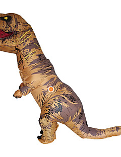 cheap Men's & Women's Halloween Costumes-Dinosaur Cosplay Costume Masquerade Halloween Props Movie Cosplay Brown Red Green Blue Christmas Halloween Carnival Oktoberfest New Year