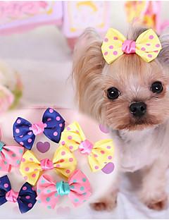 Cachorro Acessórios de Cabelo Roupas para Cães Fofo Casual Laço Azul Escuro Amarelo Rosa claro
