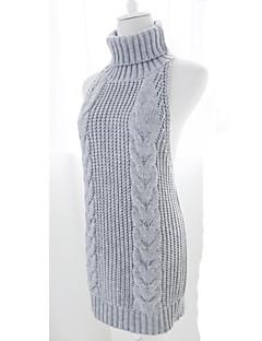 Doce Princesa Lã Mulheres Para Meninas Tricotar e Costurar Cosplay Preto Cinzento Azul Sem Manga