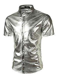 billige Herremote og klær-Tynn Skjorte Herre - Ensfarget, Paljetter