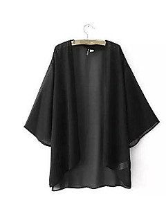 economico Top da donna-T-shirt Per donna Tinta unita Seta