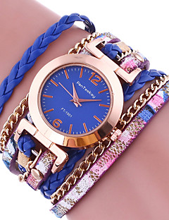 cheap Bracelet Watches-Women's Ladies Bracelet Watch Wrap Bracelet Watch Quartz Wrap Leather Black / White / Blue Colorful Analog Charm - Blue Pink Golden One Year Battery Life / Tianqiu 377