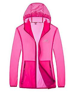 女性用 ハイキング Tシャツ アウトドア 防水 速乾性 抗紫外線 フロントファスナー 高通気性 サンスクリーン 軽量素材 日焼け防止ウェア トップス キャンピング&ハイキング 釣り ゴルフ