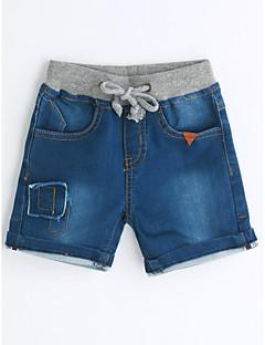 Jungen Jeans Einheitliche Farbe einfarbig Baumwolle Sommer