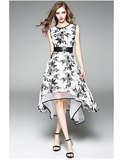 hesapli OYCP-Kadın's sofistike Çan Elbise - Çiçekli, Desen Diz-boyu