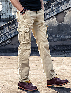 Herre Enkel Uelastisk Løstsittende Shorts Bukser,Avslappet Mellomhøyt liv Overstørrelse Ensfarget