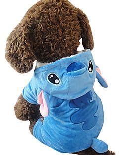 billiga Hundkläder-Hund Dräkter/Kostymer Hundkläder Djur Blå Plysch Kostym För husdjur Cosplay