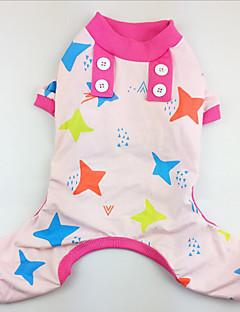 billiga Hundkläder-Hund Pyjamas Hundkläder Stjärnor Grön Blå Rosa Cotton Kostym För husdjur Herr Dam Ledigt/vardag