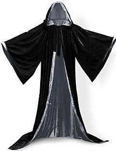 Trollmann/heks Vampyrer Cosplay Jakke Cosplay Kostumer Kappe Heksekost Halloween Utstyr Party-kostyme Maskerade Unisex Halloween Jul