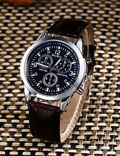 Pánské Sportovní hodinky Módní hodinky Hodinky na běžné nošení čínština Křemenný Voděodolné Kůže Kapela kreativita Na běžné nošení