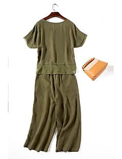 ieftine Costum Damă Două Bucăți-Pentru femei Tricou Charm Tricou - Mată, Pantaloni Culoare pură