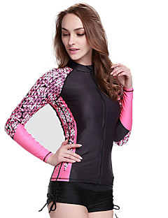12d4f8dcfa Women s Rash Guard Dive Skin Suit Chinlon Long Sleeve Swimwear Beach ...