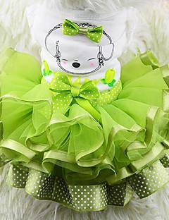 billiga Hundkläder-Hund Klänningar Hundkläder Frukt Gul Röd Grön Chiffong Cotton Kostym För husdjur Herr Dam Ledigt/vardag