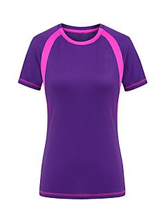 baratos Camisetas para Trilhas-Mulheres Camiseta de Trilha Ao ar livre Secagem Rápida Resistente Raios Ultravioleta Vestível Camiseta Blusas Acampar e Caminhar Caça
