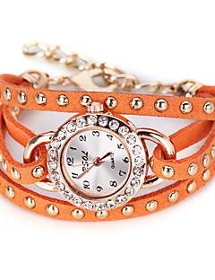 billige Modeure-Dame Quartz Unik Creative Watch Modeur Kinesisk Stor urskive Læder Bånd Vintage Sort Hvid