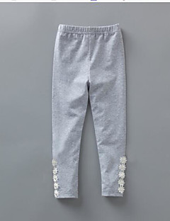 Girls' Solid Pants-Cotton Spring Summer