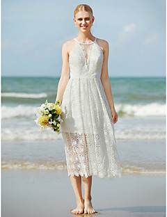 Tea length wedding dresses search lightinthebox a line jewel neck tea length lace wedding dress with lace by lan ting bride junglespirit Image collections