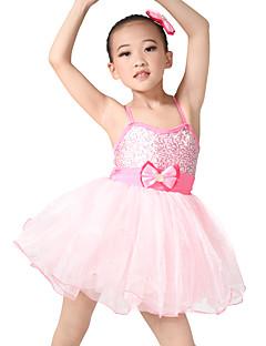 tanie Dziecięca odzież do tańca-Dziecięca odzież do tańca / Balet Sukienki Szkolenie Spandeks / Tiul Kokardki Bez rękawów Natutalne / Spektakl / Sala balowa