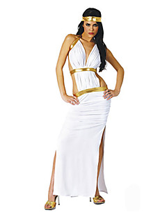 billige Halloweenkostymer-Dyremønster Egyptiske Kostymer Queen Gudinne Cleopatra Cosplay Cosplay Kostumer Party-kostyme Dame Halloween Karneval Festival / høytid
