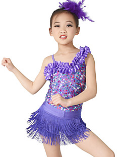 MiDee Jazz Dance Dancewear Adults' Children's Sequin Jazz Outfit Kids Dance Costumes