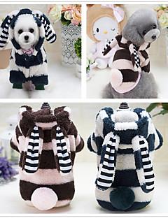 billiga Hundkläder-Hund Huvtröjor Jumpsuits Pyjamas Hundkläder Tecknat Grön Blå Rosa Ull Polyester Plysch Cotton Kostym För husdjur Herr Dam Fest