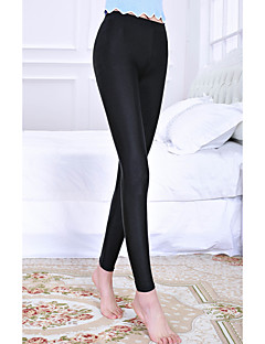Women's Mid Rise Stretchy Skinny Legging Pants,Simple Pencil Skinny Pure Color Solid