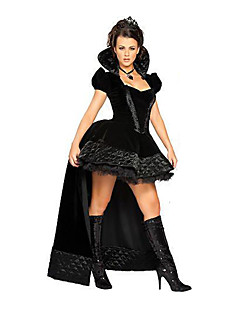 Taikuri/noita Cosplay Cosplay-Asut Naamiaisasu Juhla-asu Naiset Halloween Karnevaali Festivaali/loma Halloween-asut Musta Muuta Vintage