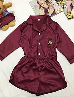 baratos Pijamas Femininos-Mulheres Tamanhos Grandes Decote V Pijamas Sólido
