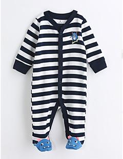 お買い得  赤ちゃんウェア-赤ちゃん 男の子 縞柄 コットン ワンピース 春/秋 長袖 ブルー