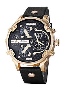 Men's Sport Watch Military Watch Dress Watch Fashion Watch Wrist watch Bracelet Watch Casual Watch Chinese Quartz Calendar Large Dial Punk
