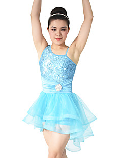 cheap Ballet Dance Wear-Ballet Dresses Women's Children's Performance Polyester Spandex Sequined Sequin Paillette Crystals/Rhinestones Ruffles Sleeveless Natural