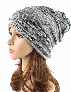 Unisex Kopfbedeckung Niedlich Freizeit Schick & Modern Lässig/Alltäglich Strickware Herbst Winter Acryl Beanie Schlapphut,SolideReine