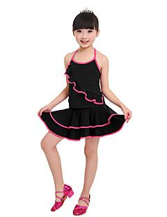 tanie Stroje do tańca latino-Taniec latynoamerykański Outfits Damskie Wydajność Nylon Spandeks Falbana kaskadowa Bez rękawów Wypada Spódnice Top