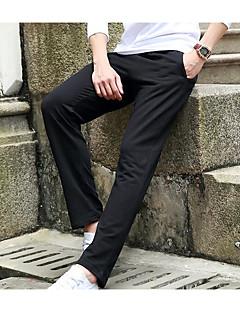 billige Herrebukser og -shorts-Herre Søtt Aktiv Bomull Rett Løstsittende Aktiv Chinos Bukser - Trykt mønster, Ensfarget Stripet