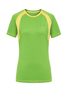 tanie Odzież turystyczna-Damskie Tričko na turistiku Na wolnym powietrzu Quick Dry Ultraviolet Resistant Zdatny do noszenia T-shirt Topy Camping & Turystyka