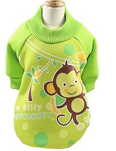 billiga Hundkläder-Hund Kappor T-shirt Tröja Hundkläder Djur Brun Grön Blå Rosa Ljusblå Cotton Kostym För husdjur Herr Dam Fest Ledigt/vardag Mode Sport