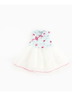 billige Babykjoler-Baby Pigens Kjole I-byen-tøj Sommer Uden ærmer Kineseri Blå Grøn Hvid