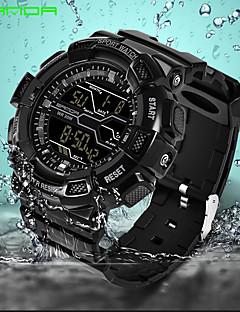 Herrn Sportuhr Armbanduhr Digitaluhr Japanisch digital Alarm Kalender Wasserdicht Nachts leuchtend Caucho Band Freizeit Cool Schwarz Grün