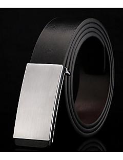 Men's Alloy Waist Belt,White Black Classic