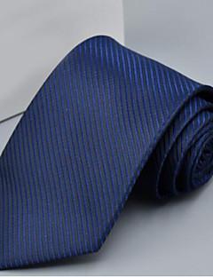 Men's Polyester Neck Tie,Office/Business Solid Gray Purple Yellow Fuchsia Light Blue