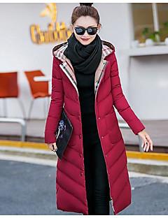Manteau Doudoune Femme simple Actif Sortie Couleur Pleine Rayé Imprimé-Coton Acrylique Autres Polypropylène Manches Longues