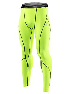 billiga Träning-, jogging- och yogakläder-21Grams Herr Tights för jogging / Gymleggings - Grå, Svart / grön, Vit+Grå sporter Elastan Cykling Tights / Leggings Sportkläder Snabb tork, Anatomisk design, Mjuk / Reflexremsa