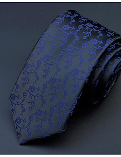 Men's Others Neck Tie,Office/Business Others Print Brown Black Navy Blue Wine Light Blue