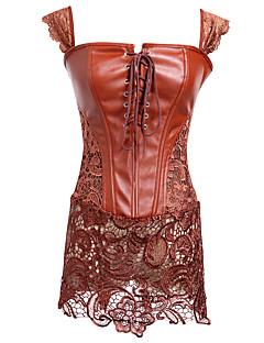 Mulheres Vestido com Corpete Roupa de Noite,Sensual Sólido